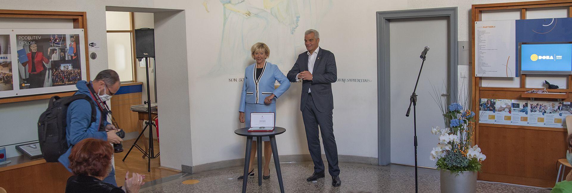 Gradonačelnik grada Maribora dodelio DOBI povodom 30. godišnjice Pečat grada